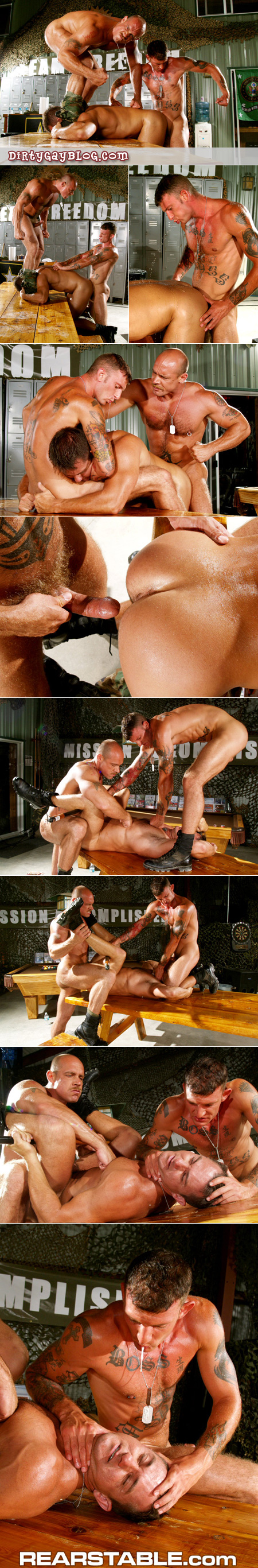 Military muscle bottom humiliated, spit on and force fucked