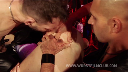 Getting fucked by multiple guys in a German sex club.
