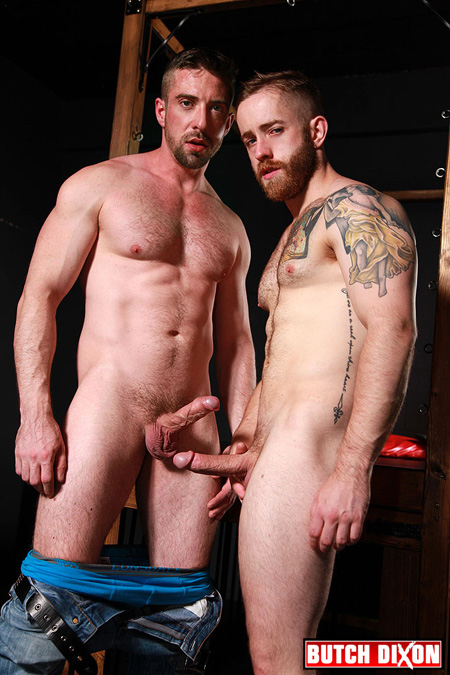 Not typically handsome bearded men with body hair and body muscles sporting erections.