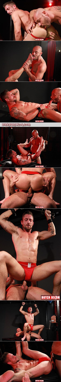 Horny blad guy fucking his muscular boyfriend bareback.