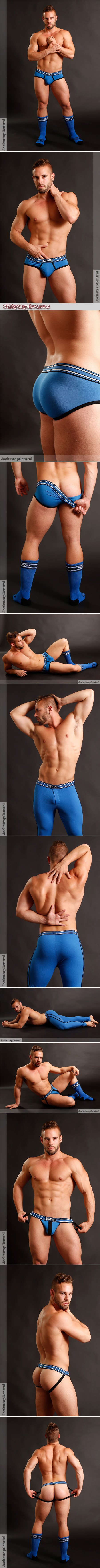 New Nasty Pig Champ line of briefs, longjohns and jockstraps modeled by a man with a big muscular ass and legs.