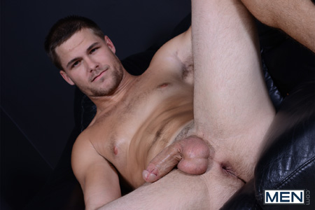 Beefy guy shows off his hole after bottoming for the first time.