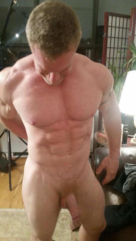 Straight ginger bodybuilder nude