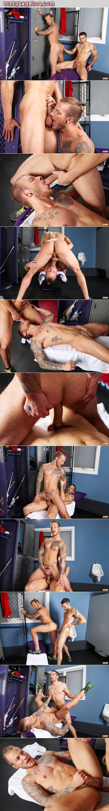 Straight personal trainer has gay sex for the first time with one of his male clients.