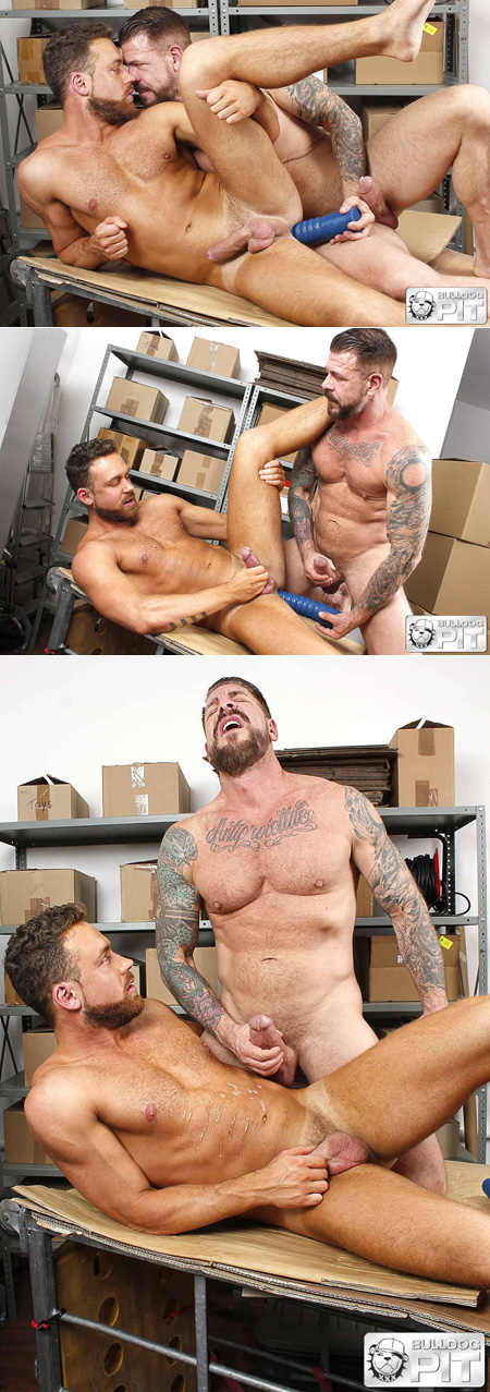 Bearded Daddy gets fucked with a dildo then coated in hot sperm.