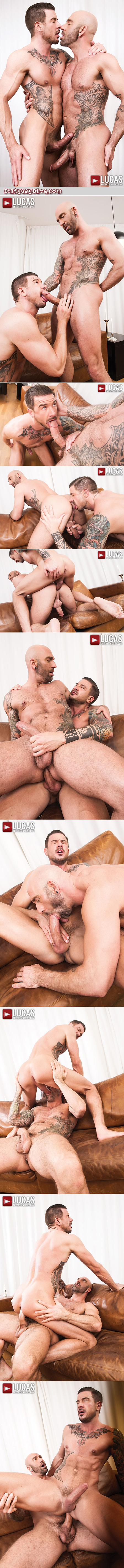 Gay porn stars and real-life boyfriends fucking bareback.