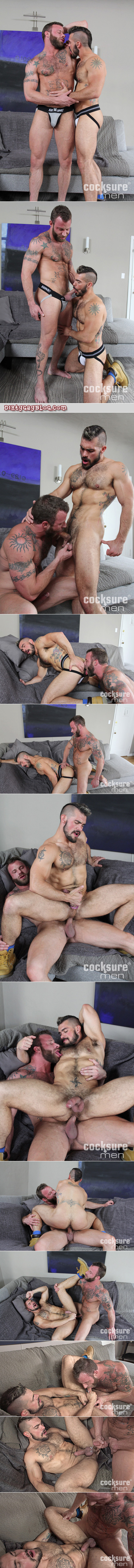 Young muscle bears in jockstraps fucking bareback.
