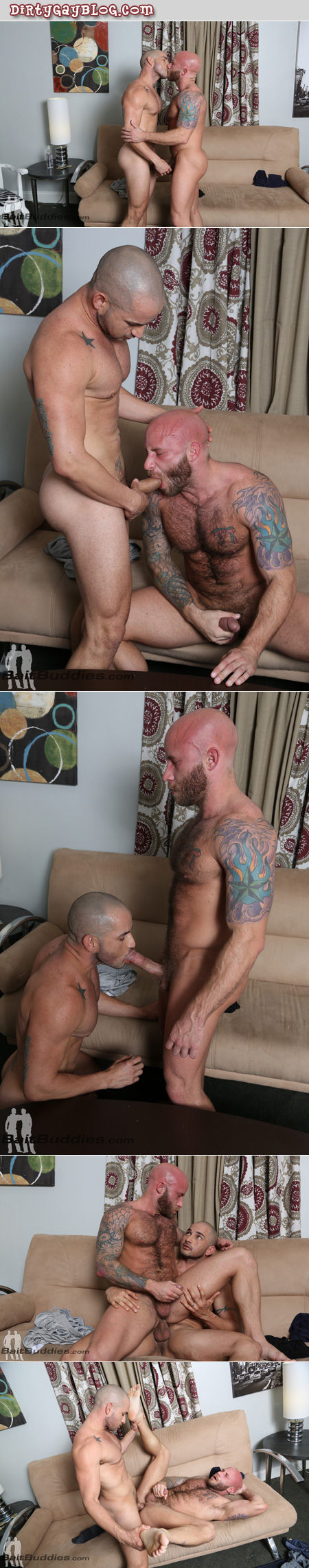 Straight Latino hunk fucking a very hairy muscle stud in the ass.