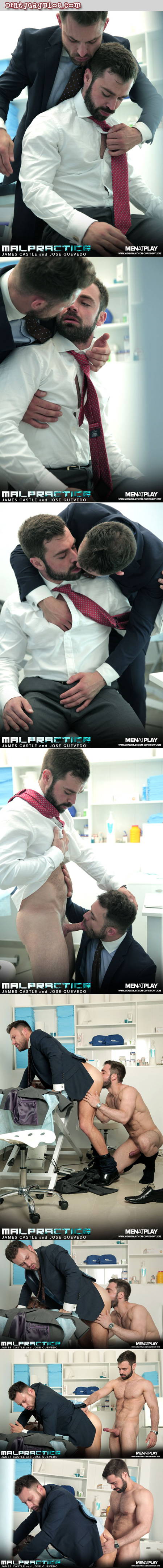 Businessman muscle bear seduced by a male co-worker in the office and caught on camera.