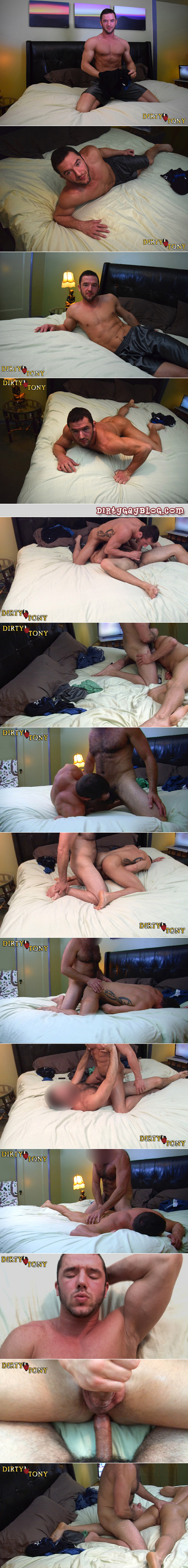 Hairy Daddy fucking a bisexual muscle hunk.