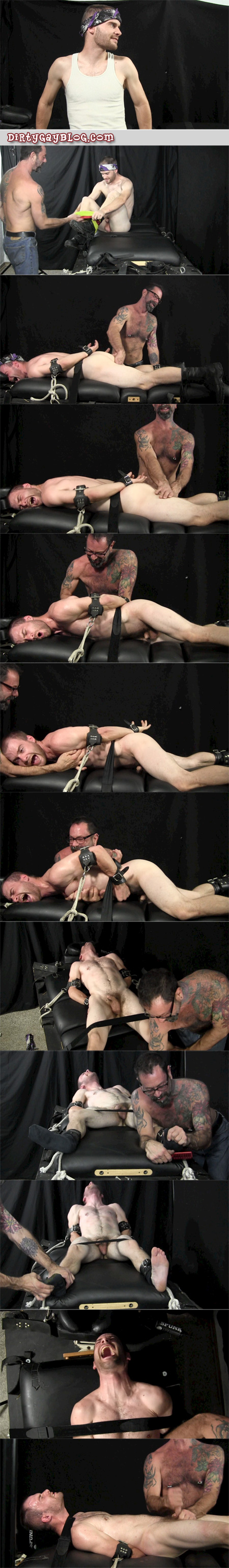 Naked straight guy tickle tortured and jerked off.