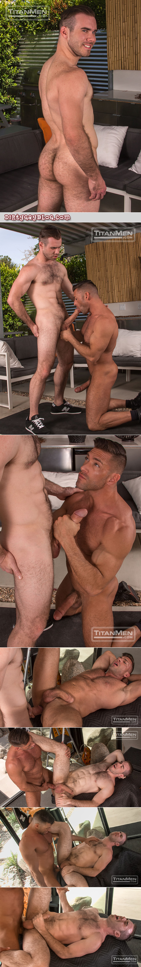 Hung, hairy young man having gay sex with his muscular, hung uncle.