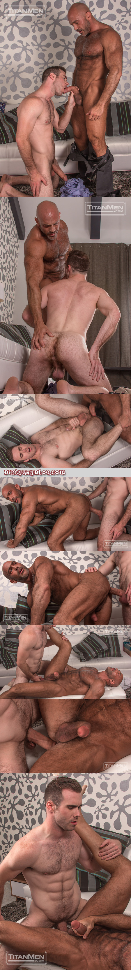 Hairy muscle Daddy getting fucked bareback.