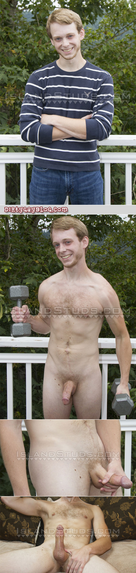 Ginger male nude outdoors