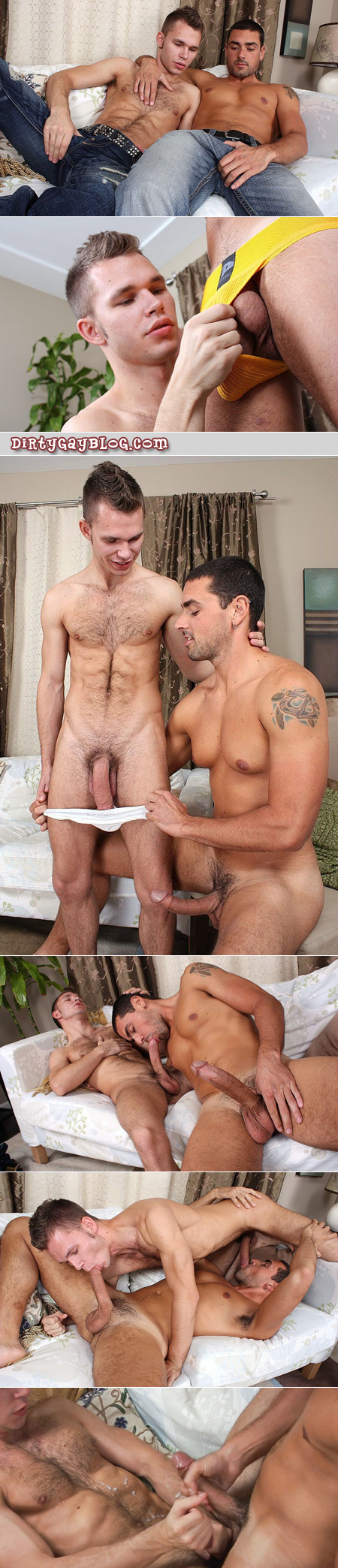 Young HUNG hairy cum