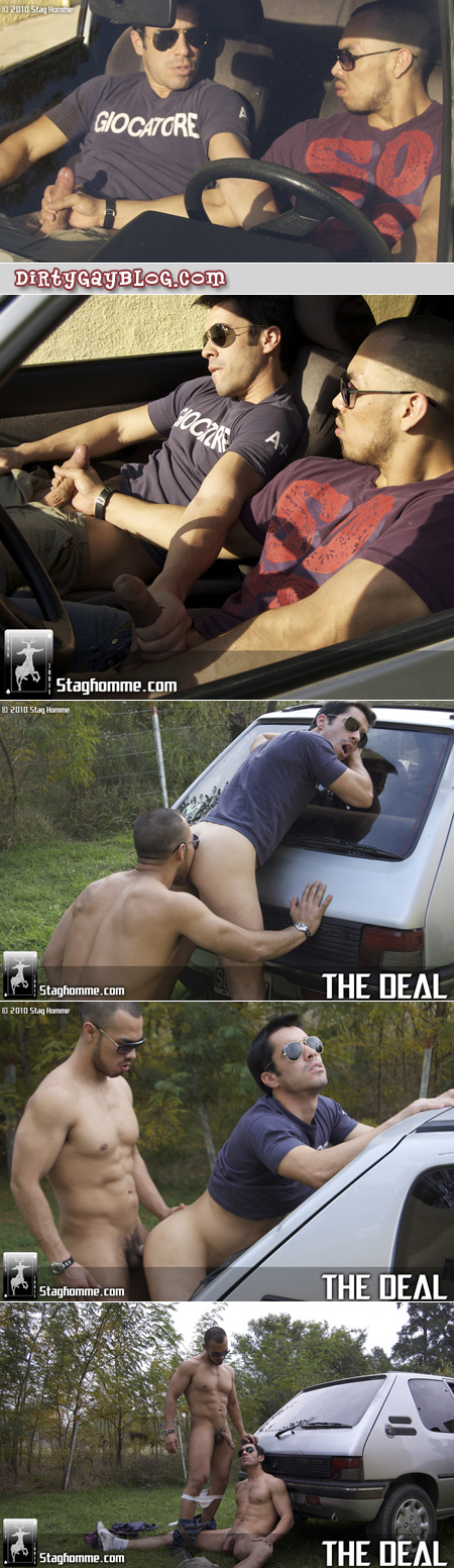 Gay men fucking in cars