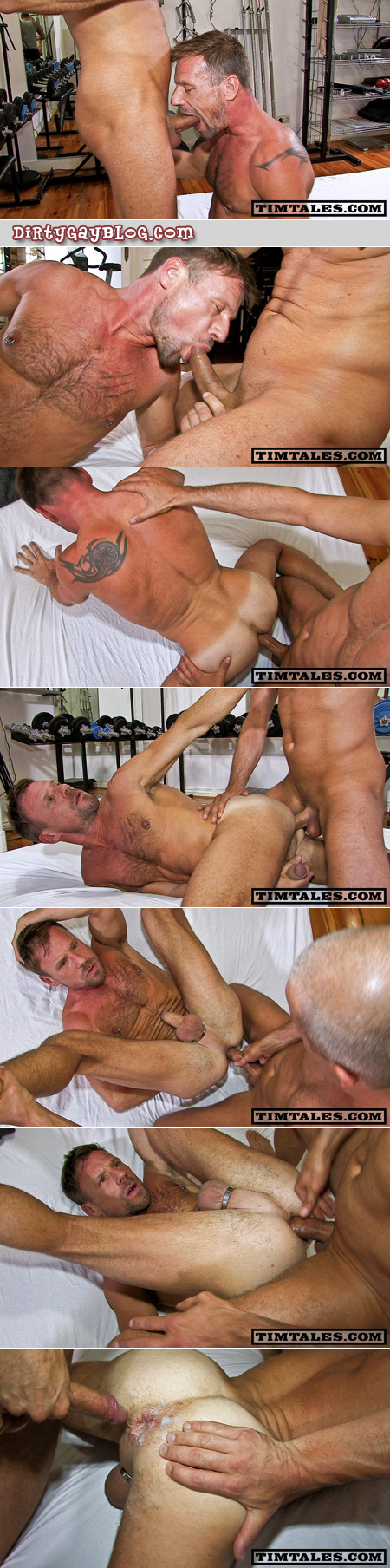 Muscular hairy older men fuck bareback