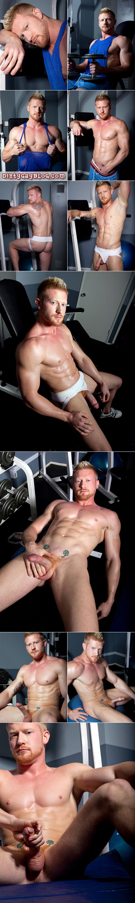 Strawberry blonde muscle guy for worship and cumming