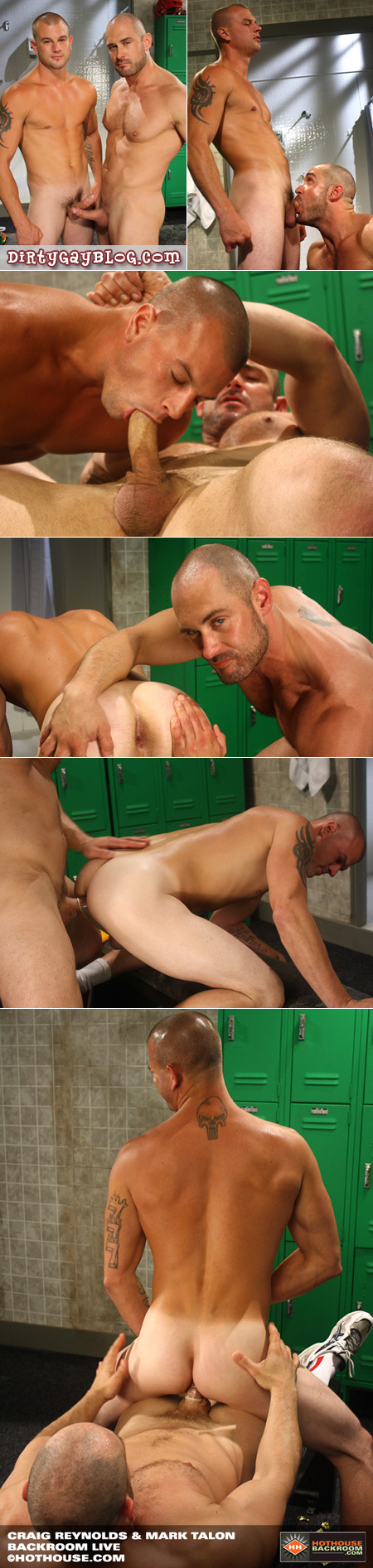 Christopher Meloni look alike fucks him gym buddy's muscular ass in the locker room in athletic socks and shoes