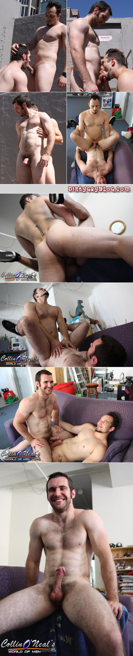 Hairy muscle cub Josh loves bottoming for this beefy top man.