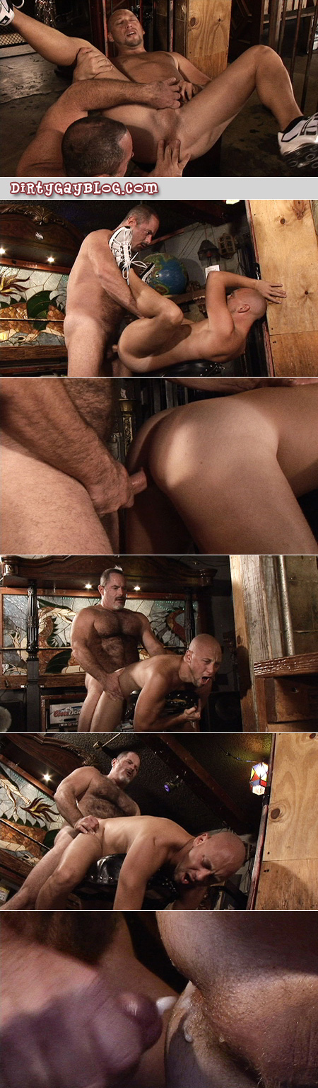 Big, hairy older men love breeding male asses with their hot cum loads.