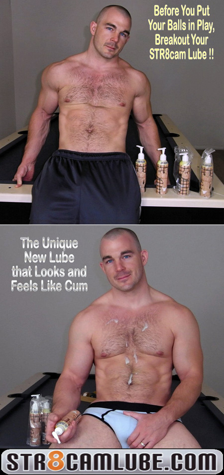 Hairy muscle men aren't the only ones who need lots of lube.  It's lube that looks like cum!