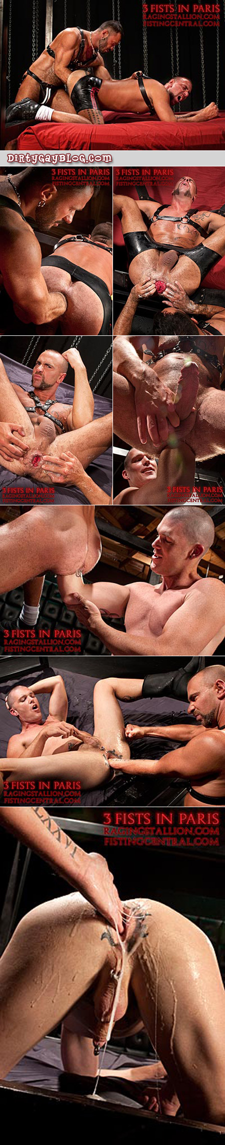 Male anal fisting, featuring leather, lube and lust.