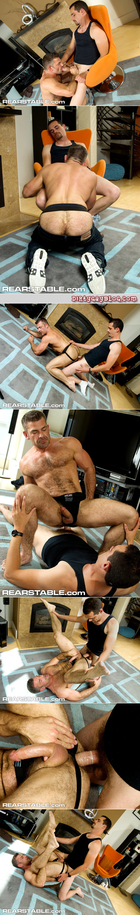 Furry older muscle man bottoms for a thick cock.