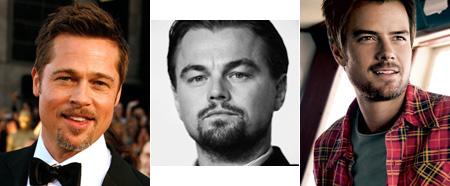 Brad Pitt, Leonardo DiCaprio and Josh Duhamel