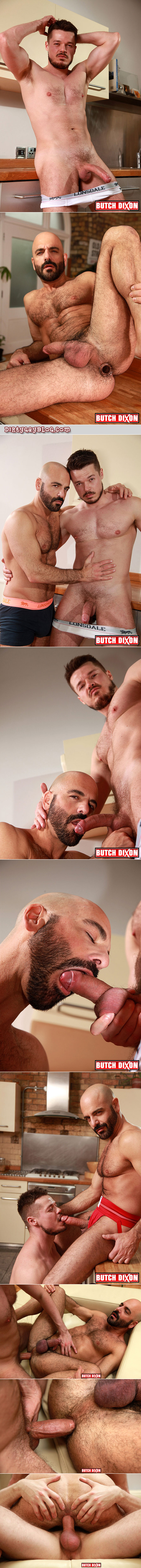 Mature, hairy men barebacking.