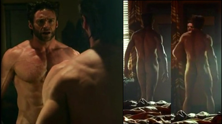 Hugh Jackman naked in X-Men Days of Future Past