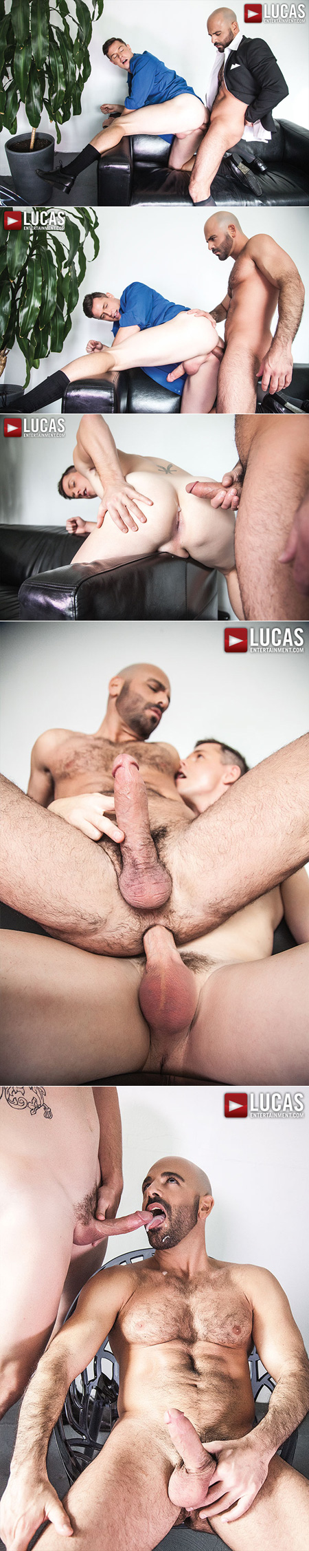 Two male office workers fucking bareback and cumming on each other.