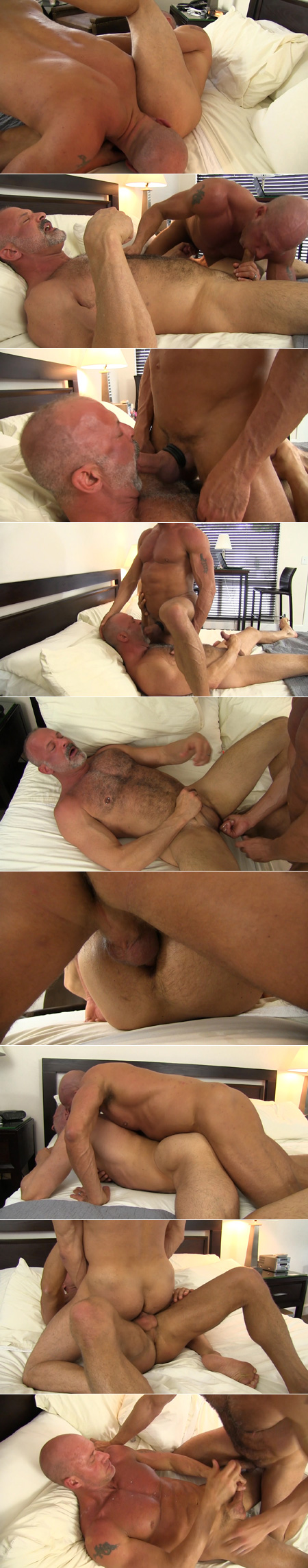 Daddy muscle bears fucking bareback.