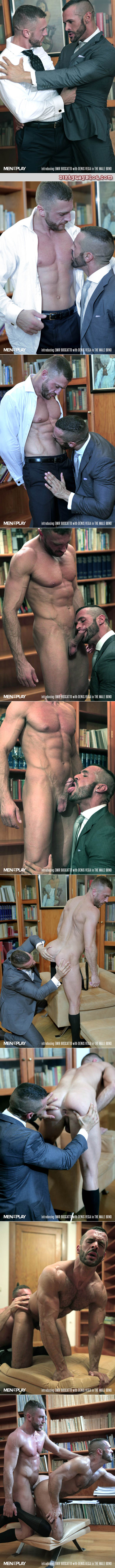 Muscle men in suits worshiping dress socks and having gay sex.