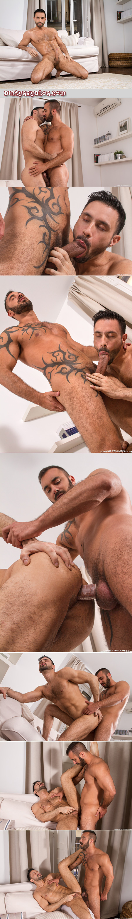 Hung Latino getting fucked by another muscular Spanish man.