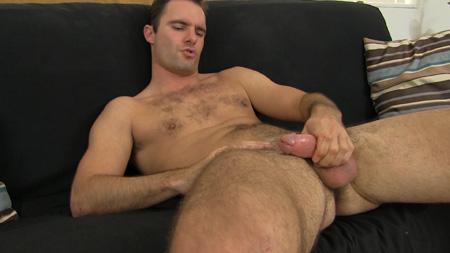 Porn star Cameron Kincade masturbating.