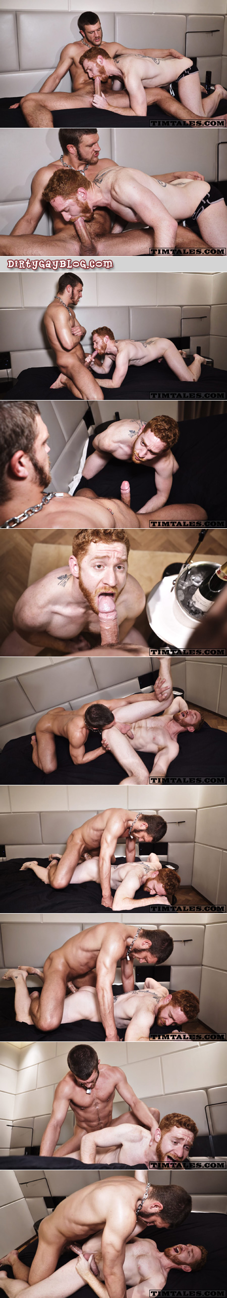 Bearded, muscular ginger getting fucked hard by a hunky Canadian man.