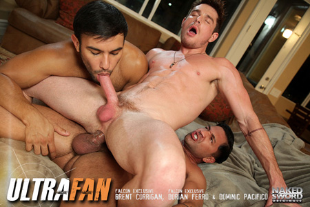 White twunk getting fucked and sucked by two different men at the same time.
