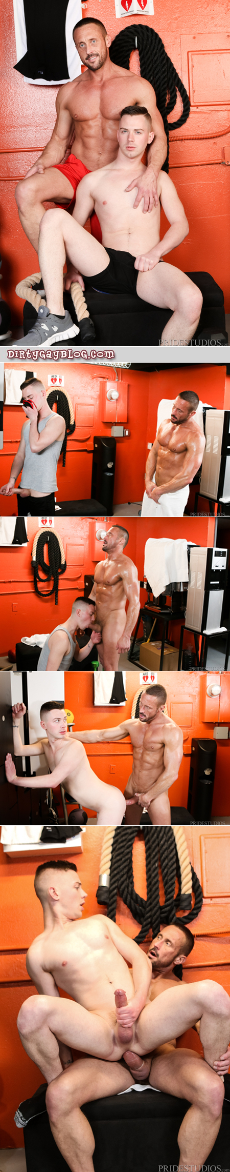 Muscle Daddy catches a twink in the locker room sniffing his sweaty jockstrap.