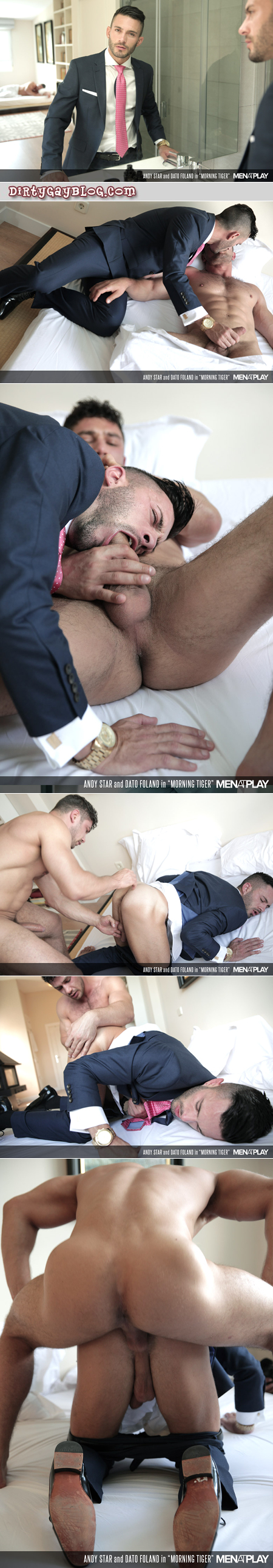 Spanish businessman lured back to bed by his hunky husband.