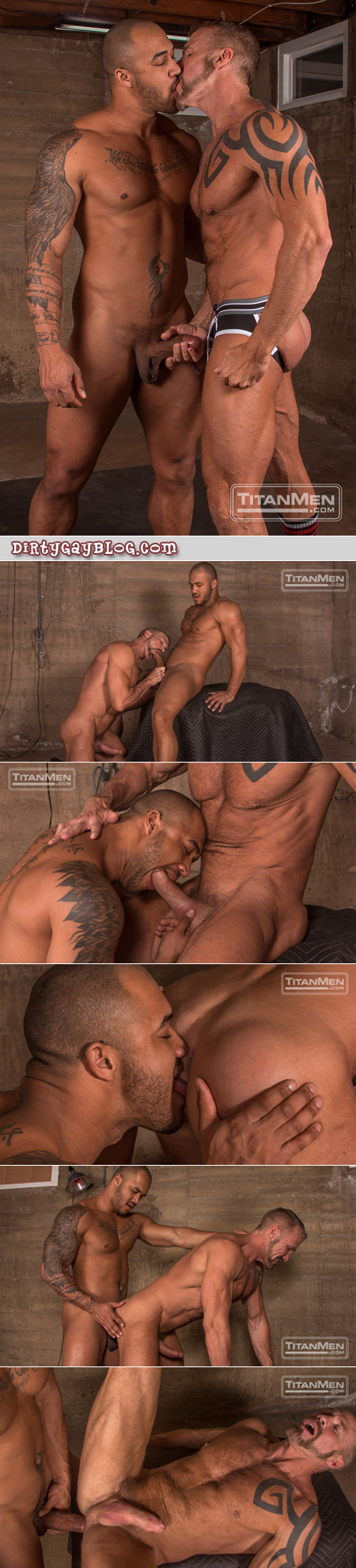 Hairy muscle Daddy taking the huge veiny uncut cock of a giant bodybuilder.
