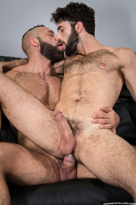 Hairy muscle hunks having gay sex in an airport lounge like pilot and passenger.