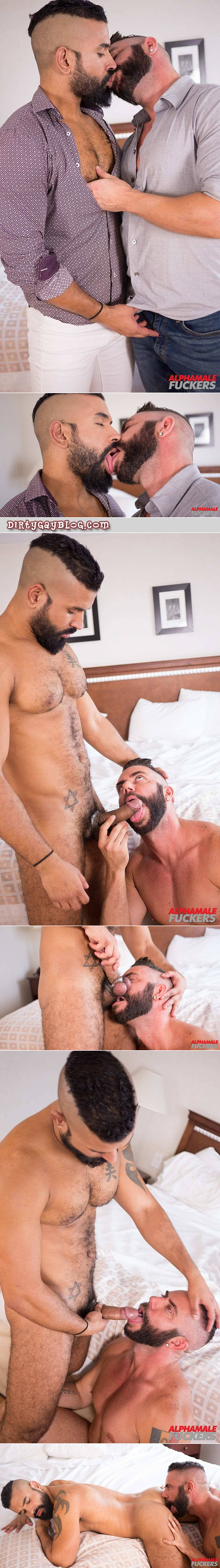 Muscular gay couple sucking cock and eating ass.