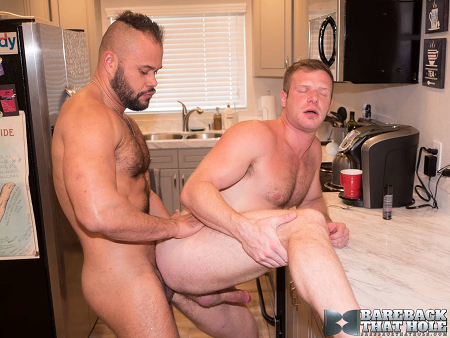 Hunky white bottom getting fucked by a hairy, uncut Latino.