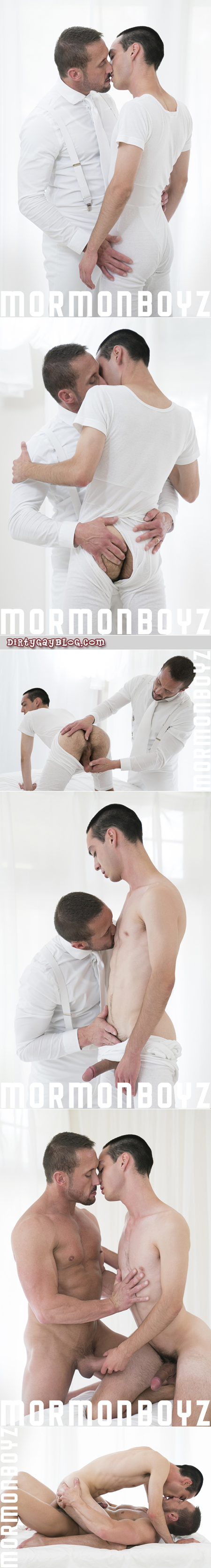 Mormon President fucks his well-hung Elder bareback as initiation.