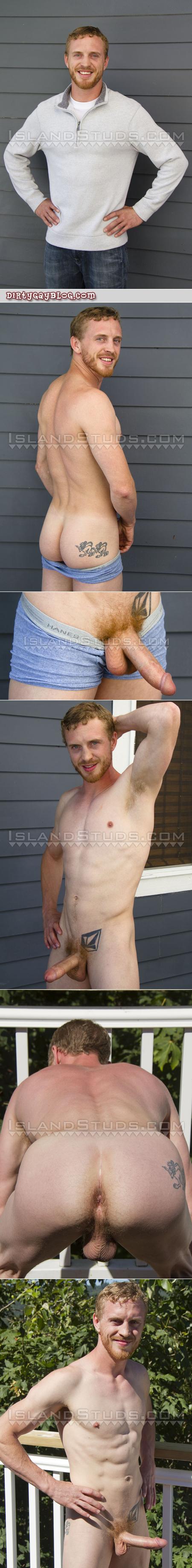 Muscular ginger man nude.